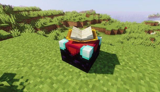 Tavolo per incantesimi su Minecraft