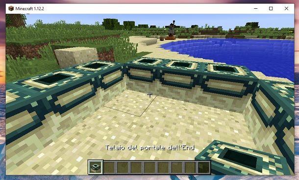 Telaio del portale dell'End Minecraft