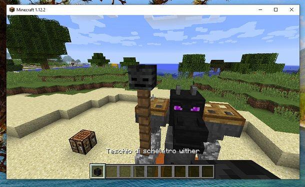 Teschio di scheletro Wither Minecraft