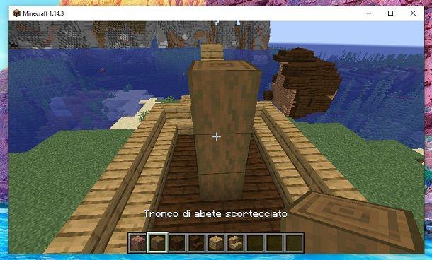 Tronco abete scortecciato 2 Minecraft