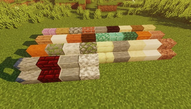 Varianti di scalini su Minecraft