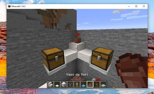 Vaso da fiori Minecraft