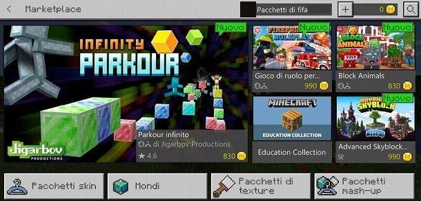 Minecraft Mod pacchetti PE