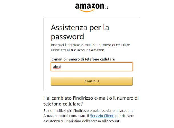 Problemi con account Amazon