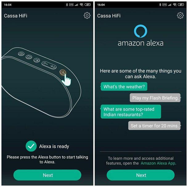 Come configurare Alexa su speaker non Echo