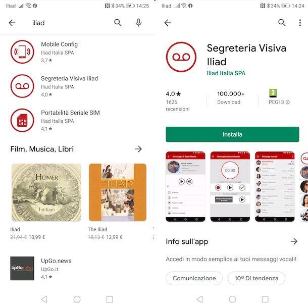 App per Iliad Android