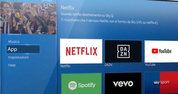 App Netflix su Sky Q