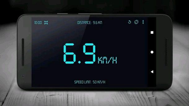 Procedura per misurare velocità tramite app