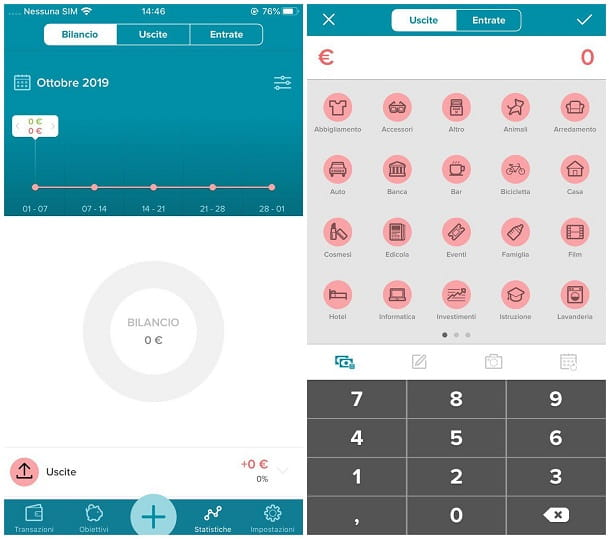 App per gestione spese iPhone