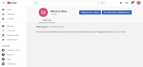 Iscritti YouTube da Web