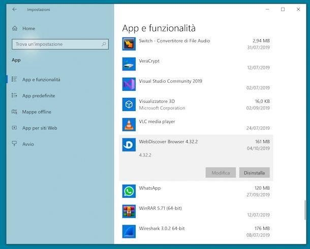 WebDiscover Windows 10