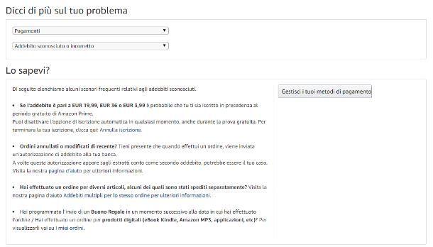 Problemi con pagamento Amazon