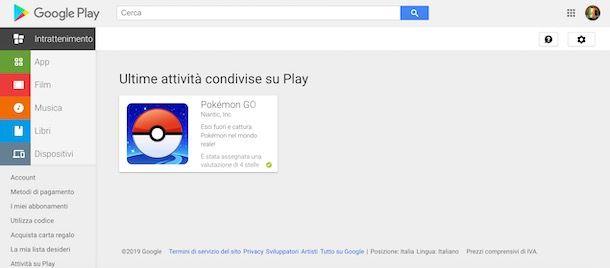Recensioni Google Play da computer
