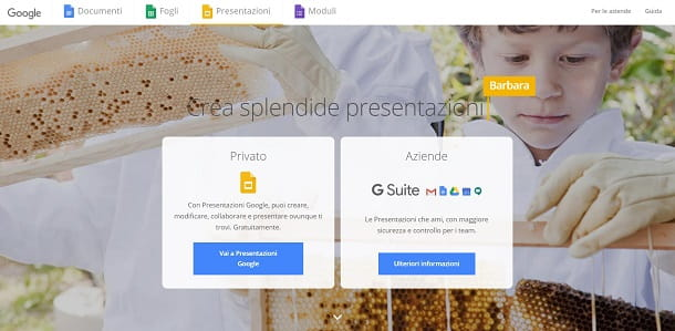 Creare presentazioni con Google