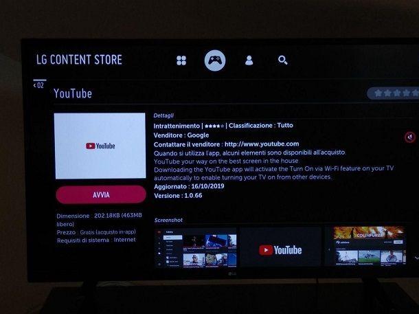 Come mettere YouTube sulla TV LG