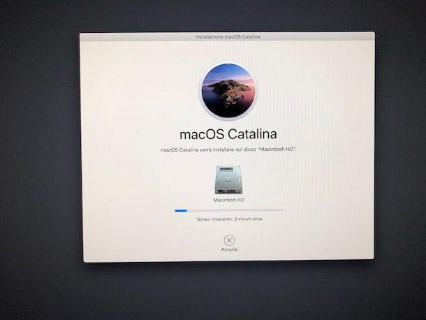 Installazione macOS Catalina