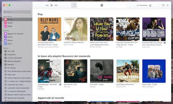 Applicazione Musica macOS