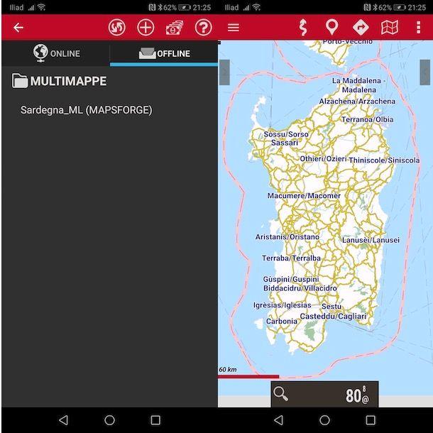 Come scaricare mappe per OruxMaps gratis