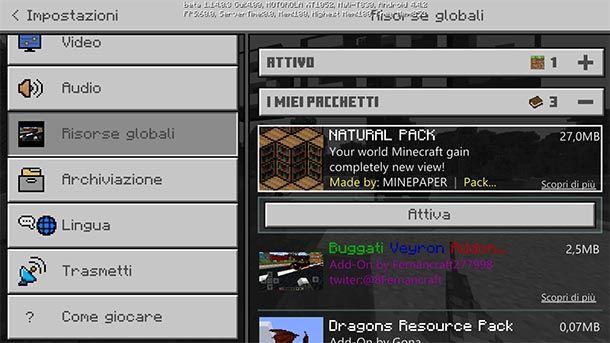 Minecraft PE texture globali