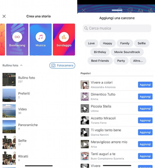 Come mettere sottofondo musicale nelle storie di Facebook