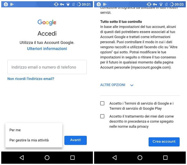 Come creare un account canadese su Android