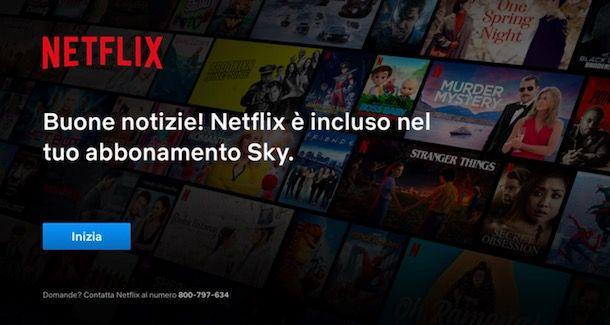 Vedere Netflix su Sky Q