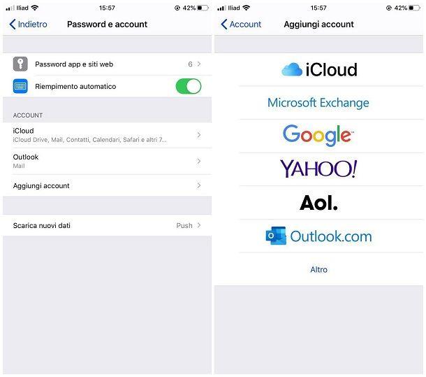 Come configurare email sul telefonino