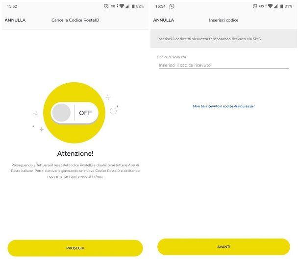 Come cambiare password app Poste Italiane