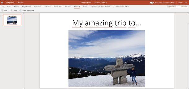 Usare PowerPoint online