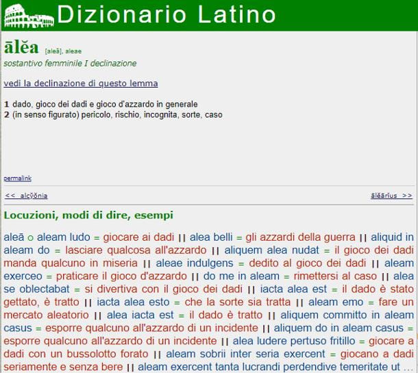 Siti per traduzioni versioni latino