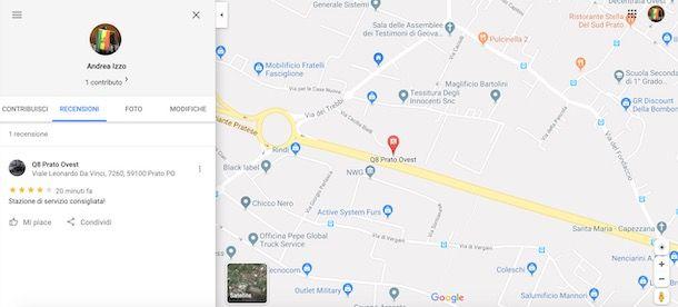 Recensioni Google Maps da computer
