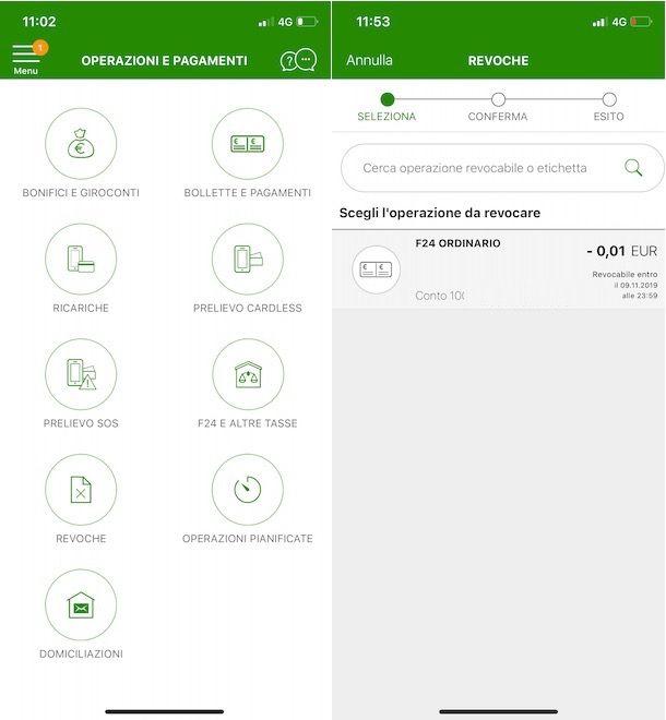 Come revocare pagamento F24 Intesa Sanpaolo