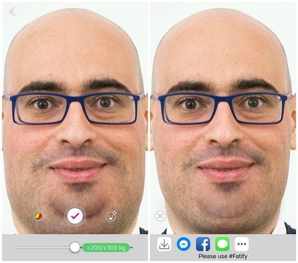 App per ingrassare foto iPhone