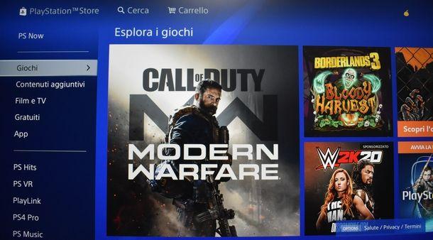 Procedura di scaricamento dei giochi completi PS4