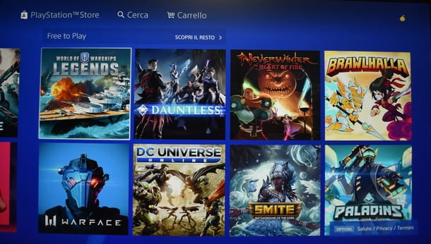 Procedere al download dei giochi PS4