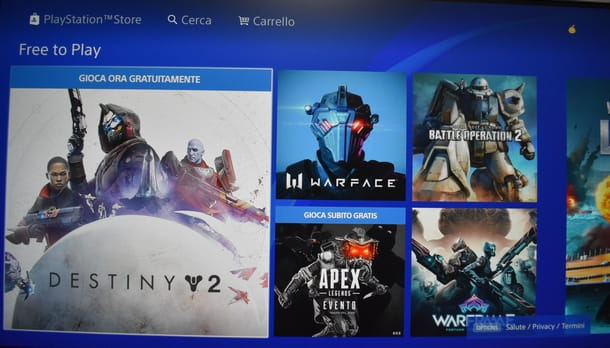 Scaricare i free-to-play per PS4