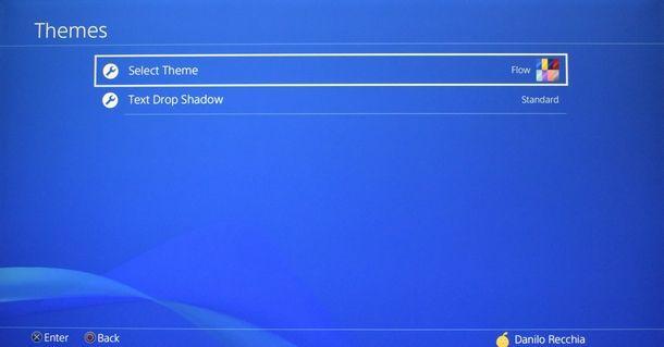 Ritornare allo sfondo originale di PS4