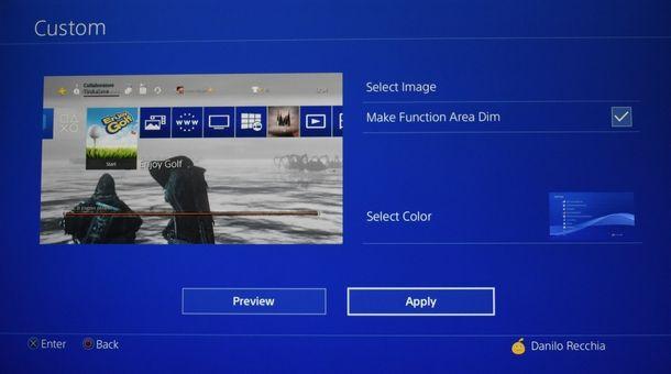 Come modificare lo sfondo personalizzato di PS4