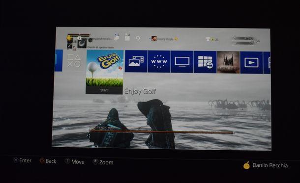 Applicare uno sfondo personale su PS4