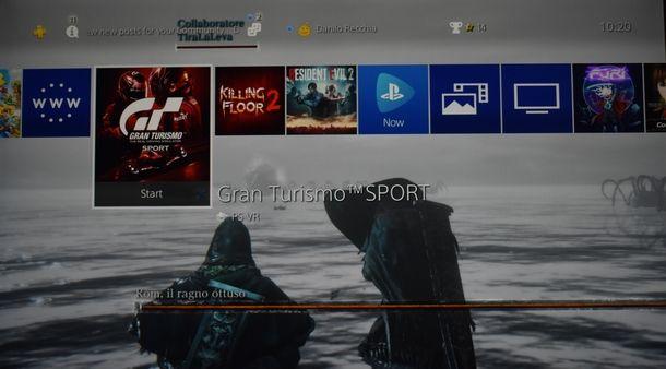 Creare uno sfondo personalizzato per PS4