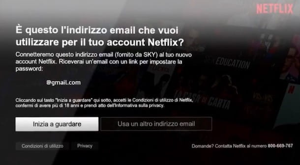 Creare account Netflix su Sky Q