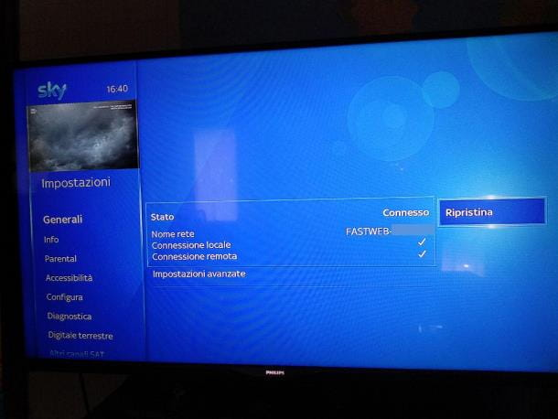 Come collegare Sky Q a Internet Wi-Fi