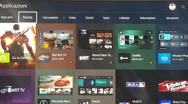 Come mettere YouTube sulla TV Samsung
