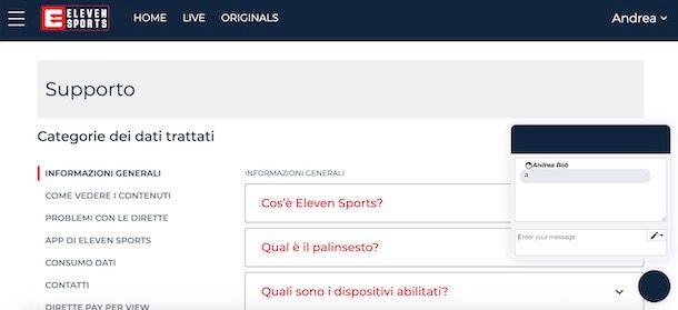 Supporto Eleven Sports