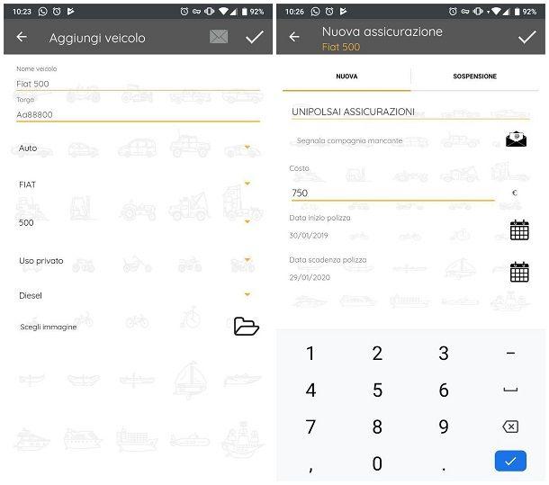 App per promemoria auto