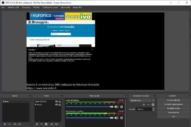 Come settare OBS per streaming