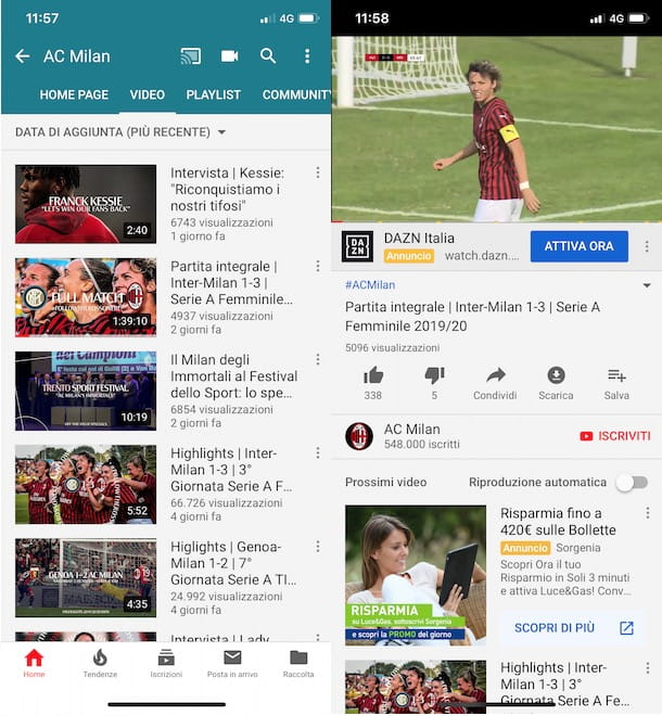 Come vedere Milan TV gratis su YouTube