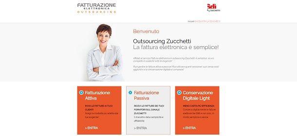 Servizio outsourcing Zucchetti per la fattura elettronica