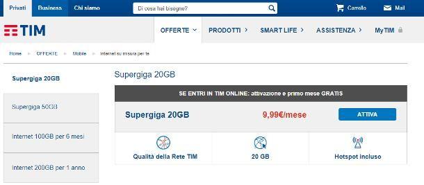 Migliori offerte TIM per Internet