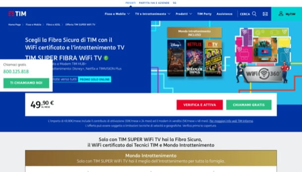 TIM Super Fibra Wi-Fi TV